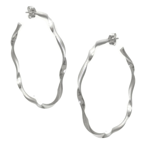 Art Deco Hoop Earrings E41s