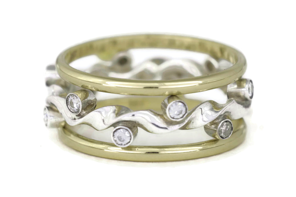 Kelp Forest Ring Band Set