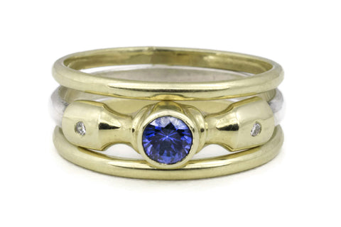 Lighthouse Ring (Sapphire) Band Set