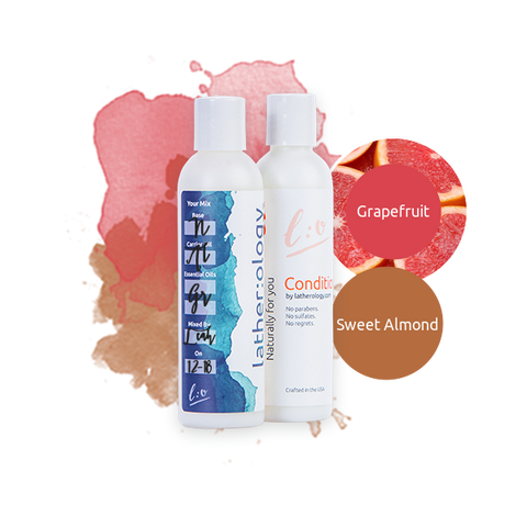 Shampoo & Conditioner for Natural Hair made with Sweet Almond and Grapefruit