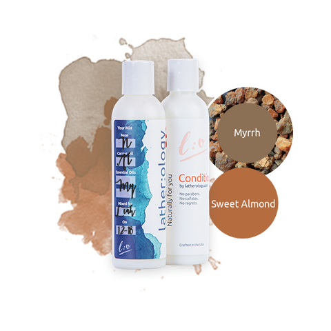 Shampoo & Conditioner for Natural Hair made with Sweet Almond and Myrrh