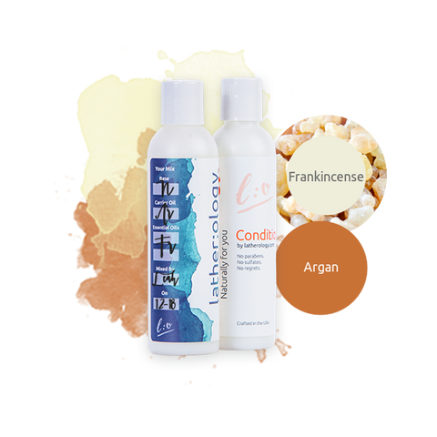 Shampoo & Conditioner for Natural Hair made with Argan and Frankincense