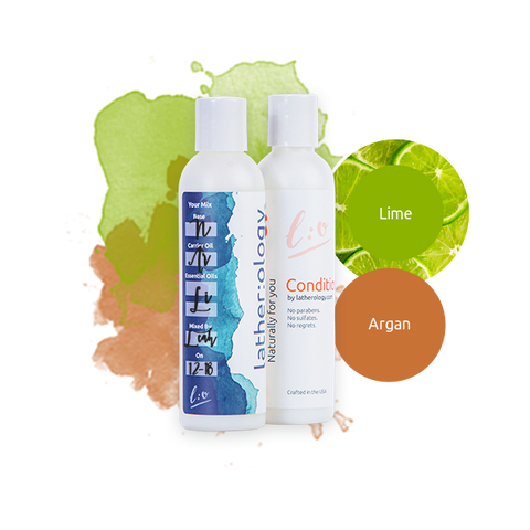 Shampoo & Conditioner for Natural Hair made with Argan and Lime