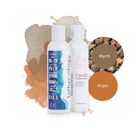 Shampoo & Conditioner for Natural Hair made with Argan and Myrrh