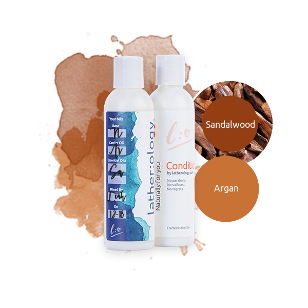 Shampoo & Conditioner for Natural Hair made with Argan and Sandalwood