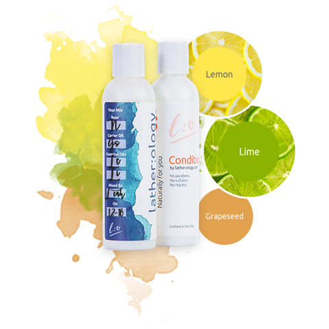 Shampoo & Conditioner for Natural Hair made with Grapeseed, Lemon, and Lime