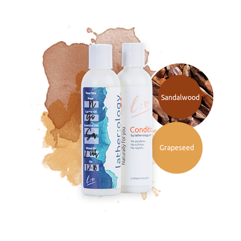 Shampoo & Conditioner for Natural Hair made with Grapeseed and Sandalwood