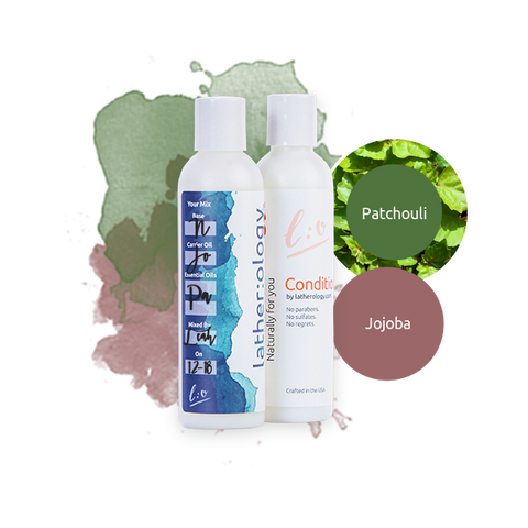 Shampoo & Conditioner for Natural Hair made with Jojoba and Patchouli