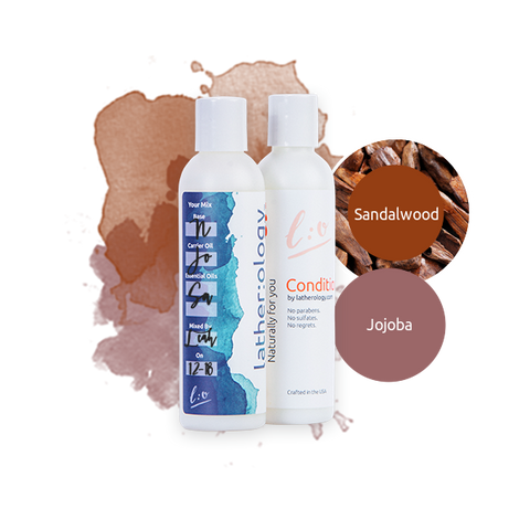 Shampoo & Conditioner for Natural Hair made with Jojoba and Sandalwood