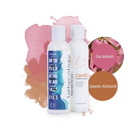 Shampoo & Conditioner for Treated Hair made with Sweet Almond and Geranium