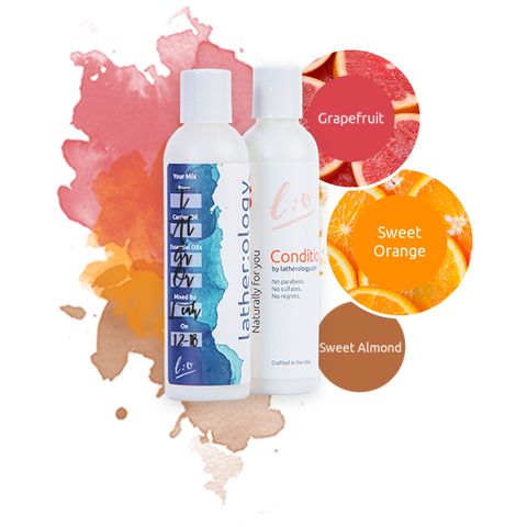 Shampoo & Conditioner for Treated Hair made with Sweet Almond, Grapefruit, and Sweet Orange