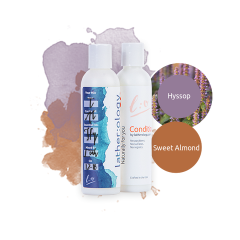 Shampoo & Conditioner for Treated Hair made with Sweet Almond and Hyssop