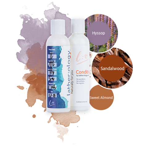 Shampoo & Conditioner for Treated Hair made with Sweet Almond, Sandalwood, and Hyssop