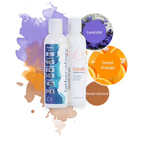 Shampoo & Conditioner for Treated Hair made with Sweet Almond, Lavender, and Sweet Orange