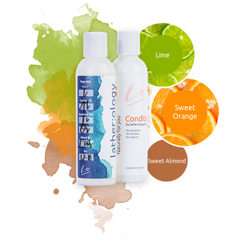 Shampoo & Conditioner for Treated Hair made with Sweet Almond, Lime, and Sweet Orange