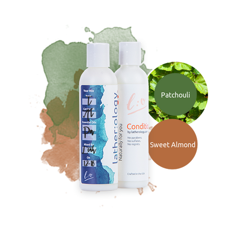 Shampoo & Conditioner for Treated Hair made with Sweet Almond and Patchouli