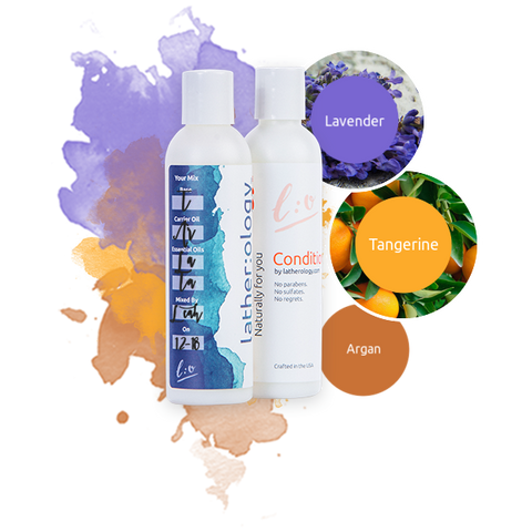 Shampoo & Conditioner for Treated Hair made with Argan, Lavender, and Tangerine