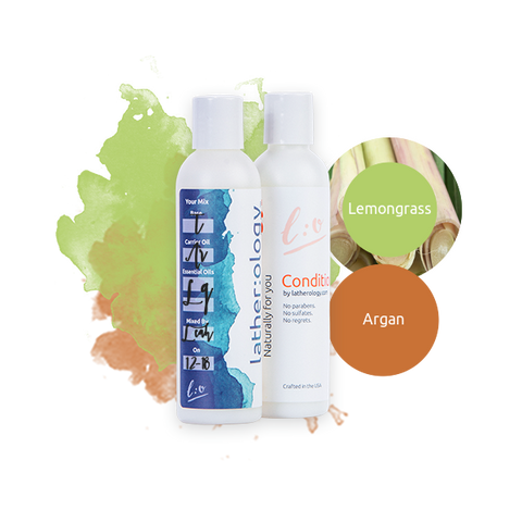 Shampoo & Conditioner for Treated Hair made with Argan and Lemongrass