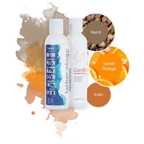 Shampoo & Conditioner for Treated Hair made with Argan, Myrrh, and Sweet Orange