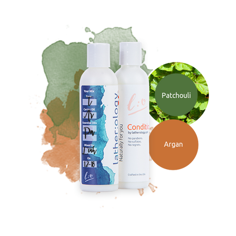 Shampoo & Conditioner for Treated Hair made with Argan and Patchouli