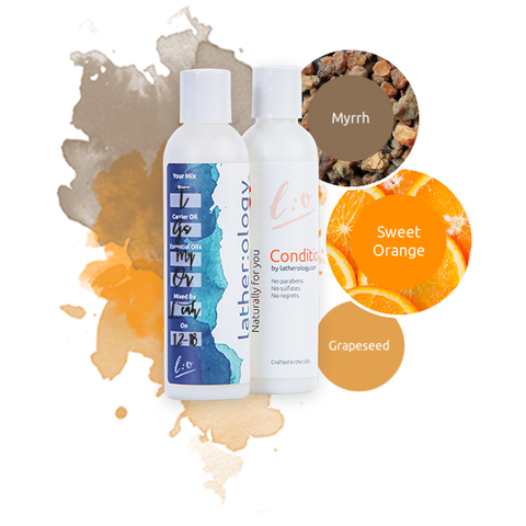 Shampoo & Conditioner for Treated Hair made with Grapeseed, Myrrh, and Sweet Orange