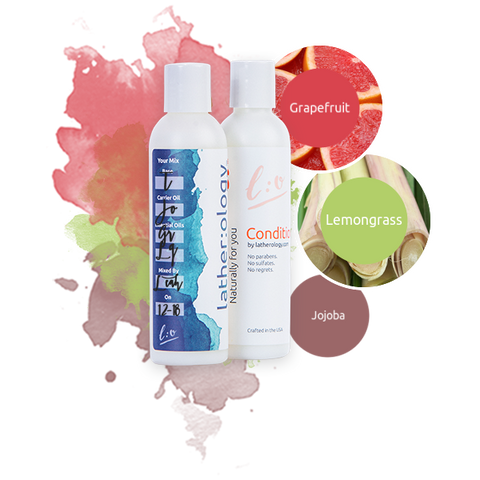 Shampoo & Conditioner for Treated Hair made with Jojoba, Grapefruit, and Lemongrass