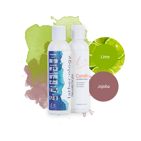 Shampoo & Conditioner for Treated Hair made with Jojoba and Lime