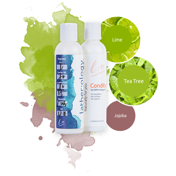 Shampoo & Conditioner for Treated Hair made with Jojoba, Tea Tree, and Lime