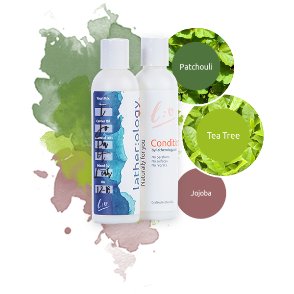 Shampoo & Conditioner for Treated Hair made with Jojoba, Tea Tree, and Patchouli
