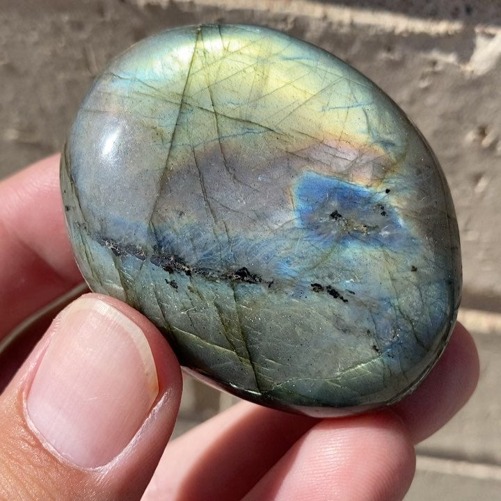 Labradorite Pocket Stone from Madagascar with Video
