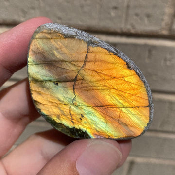 Beautiful 2.5 inch Labradorite Seer Stone with full vibrant sunset flash from Madagascar!