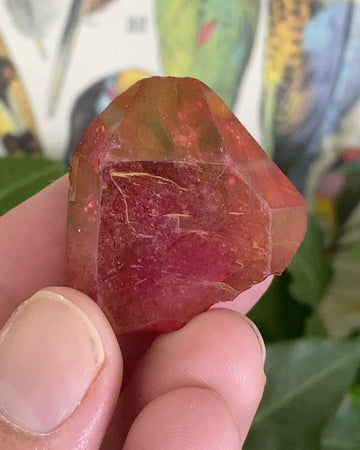 Ruby Red Aura Quartz from Brazil