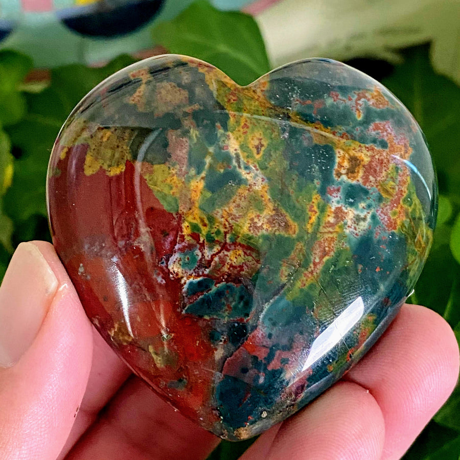 Bloodstone Heart from India