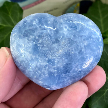 Blue Calcite Heart from Madagascar