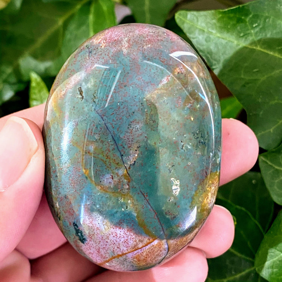 Bloodstone Pocket Stone from India