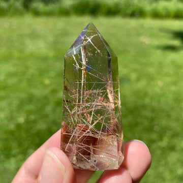 Quartz Smokey Rutilated 2 Inch Tower from Madagascar