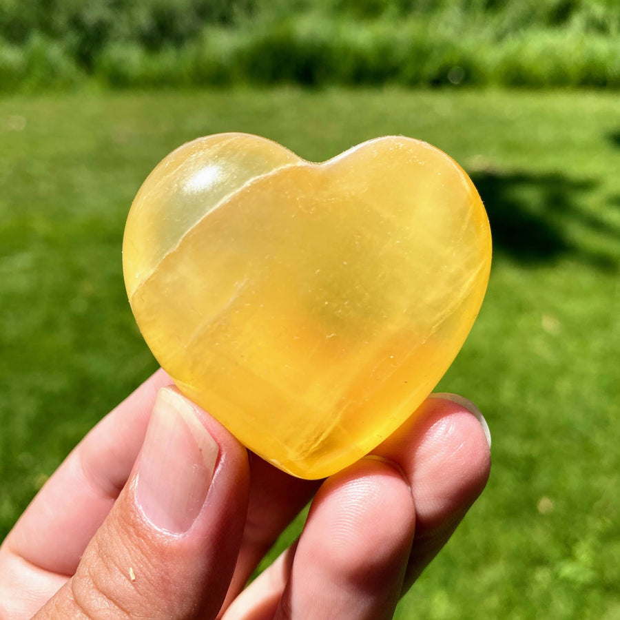 Honeycomb Calcite 2 Inch Heart from Mexico