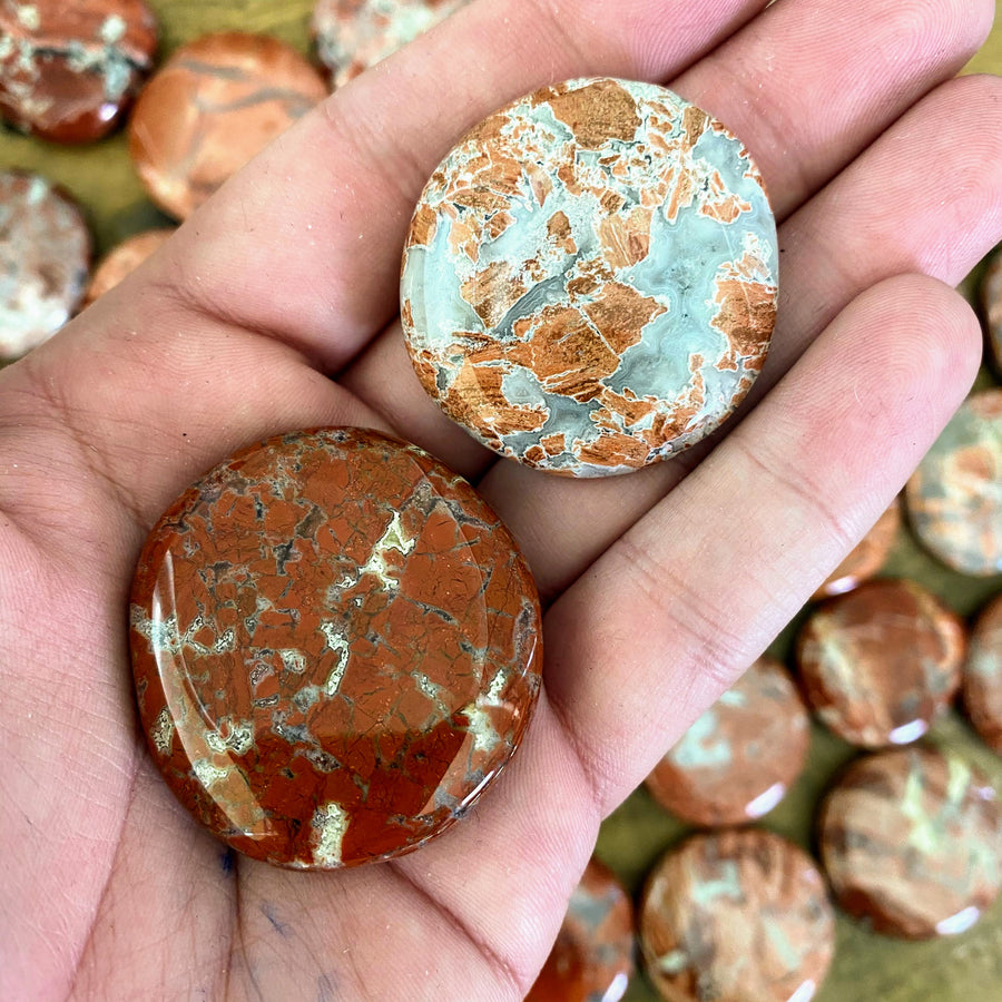 Red Jasper Pocket Stones from South Africa