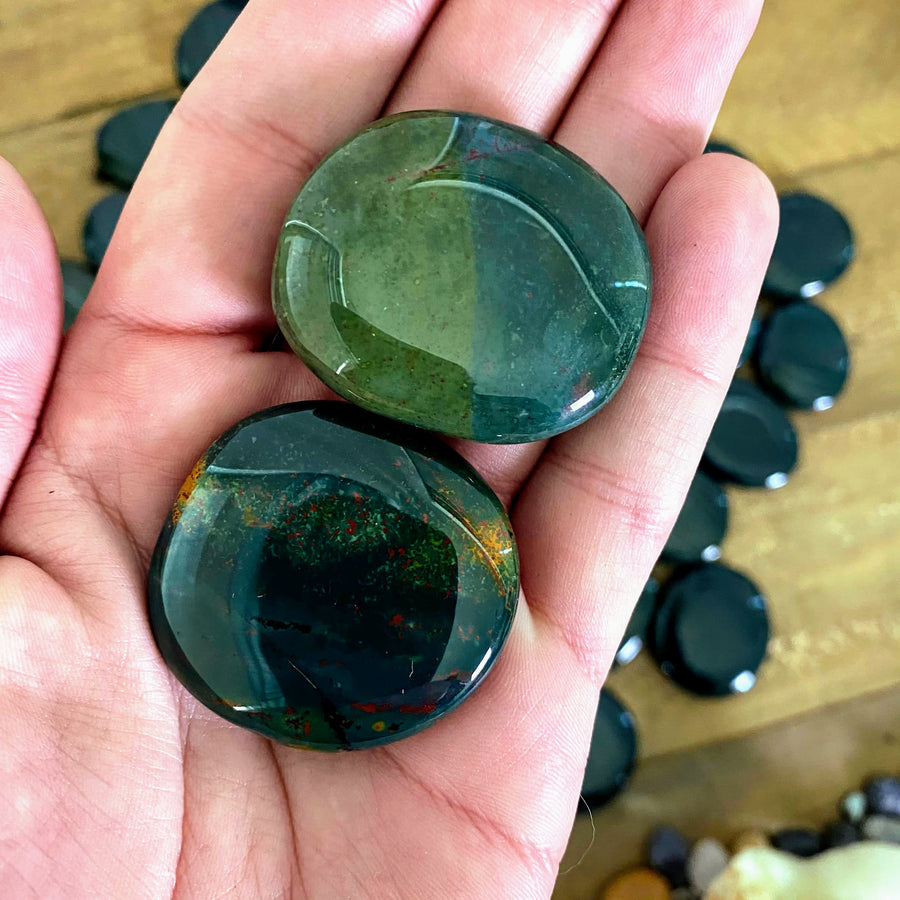Bloodstone Pocket Stones from India