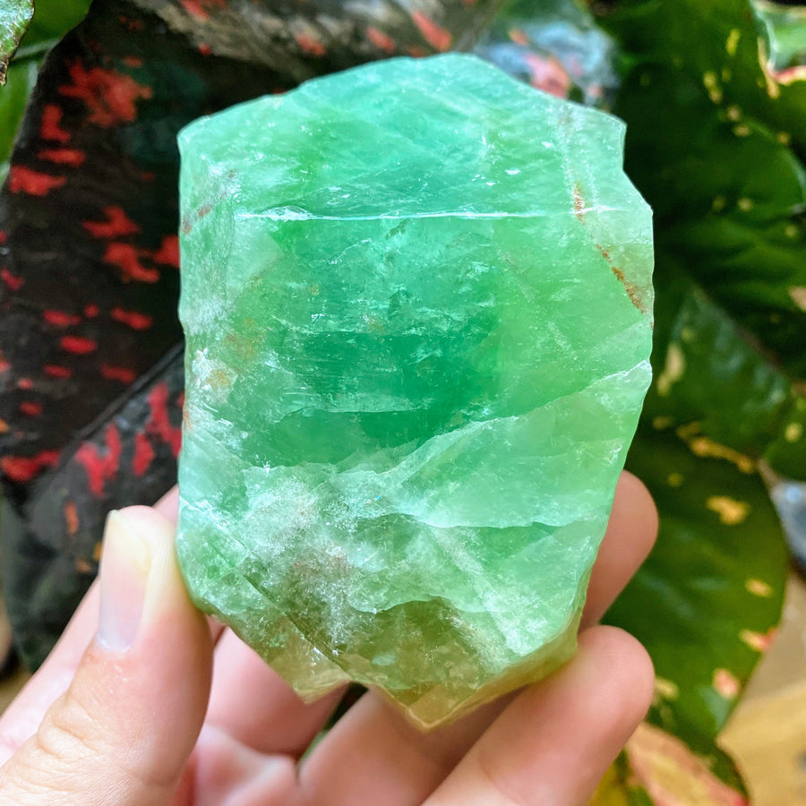 Emerald Green Calcite Chunk from Mexico