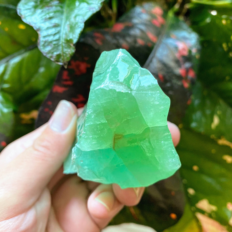 Emerald Green Calcite Chunck from Mexico