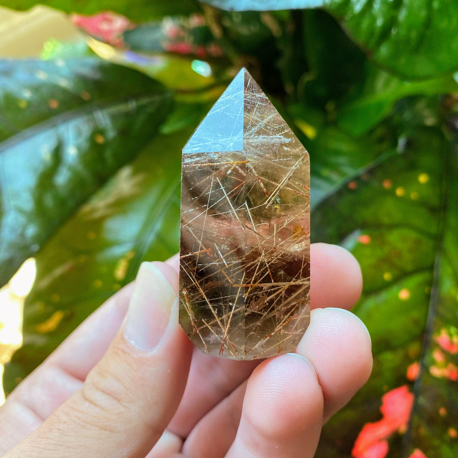 Smokey Rutilated Quartz Tower from Brazil