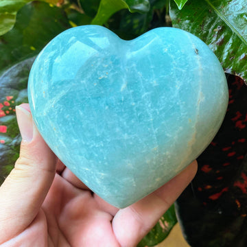 Amazonite Heart Shaped Crystal from Madagascar