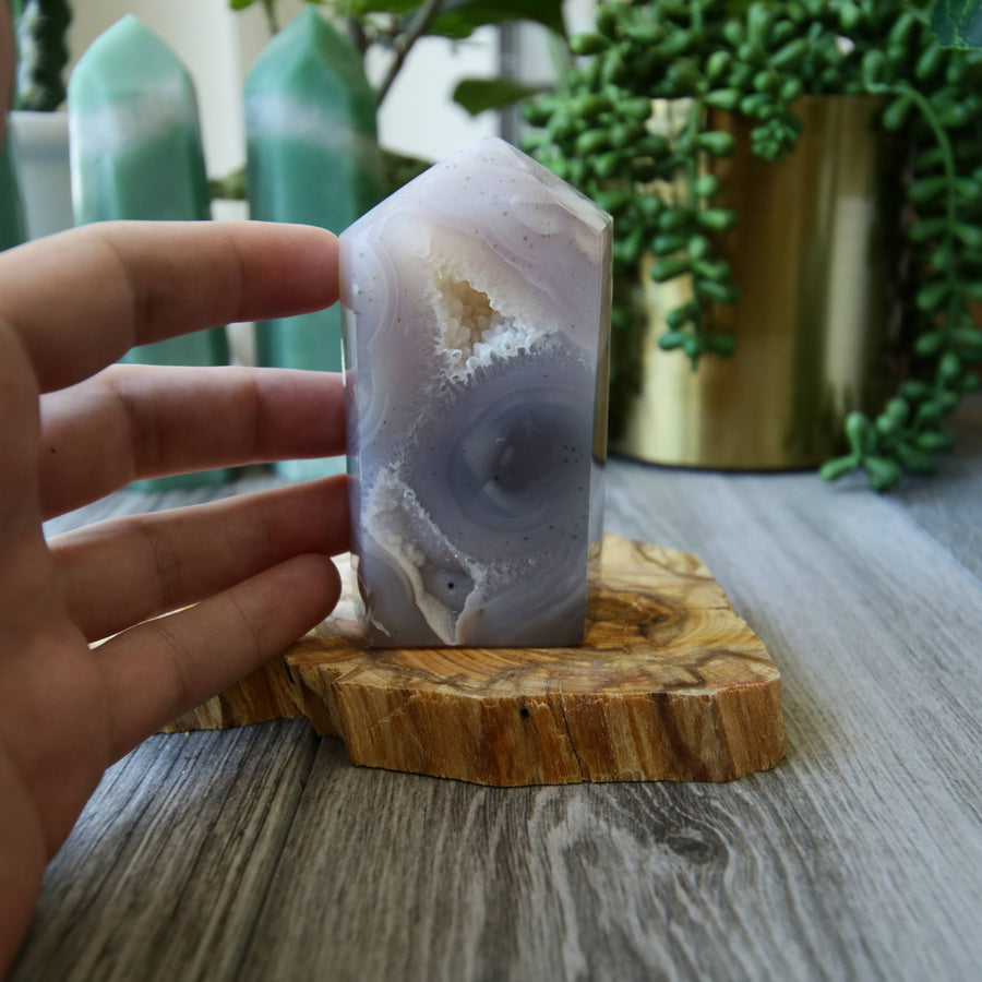 Agate Cut Base Geode Tower from Brazil
