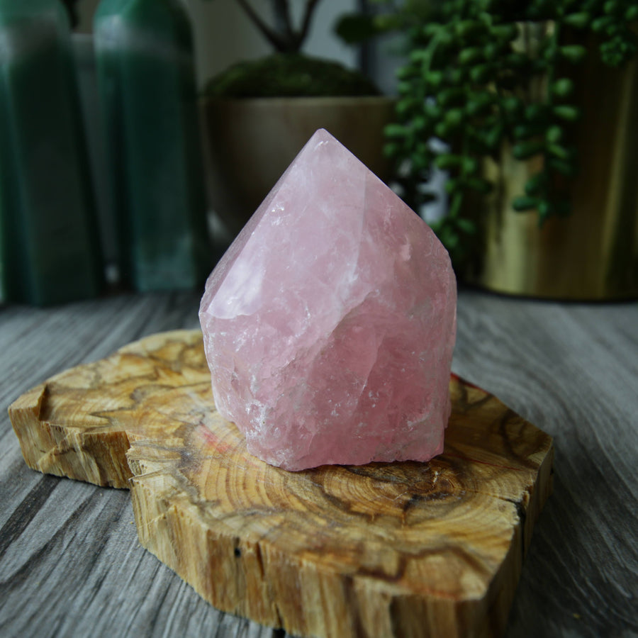Rose Quartz 1/2 Polished Tower from Brazil