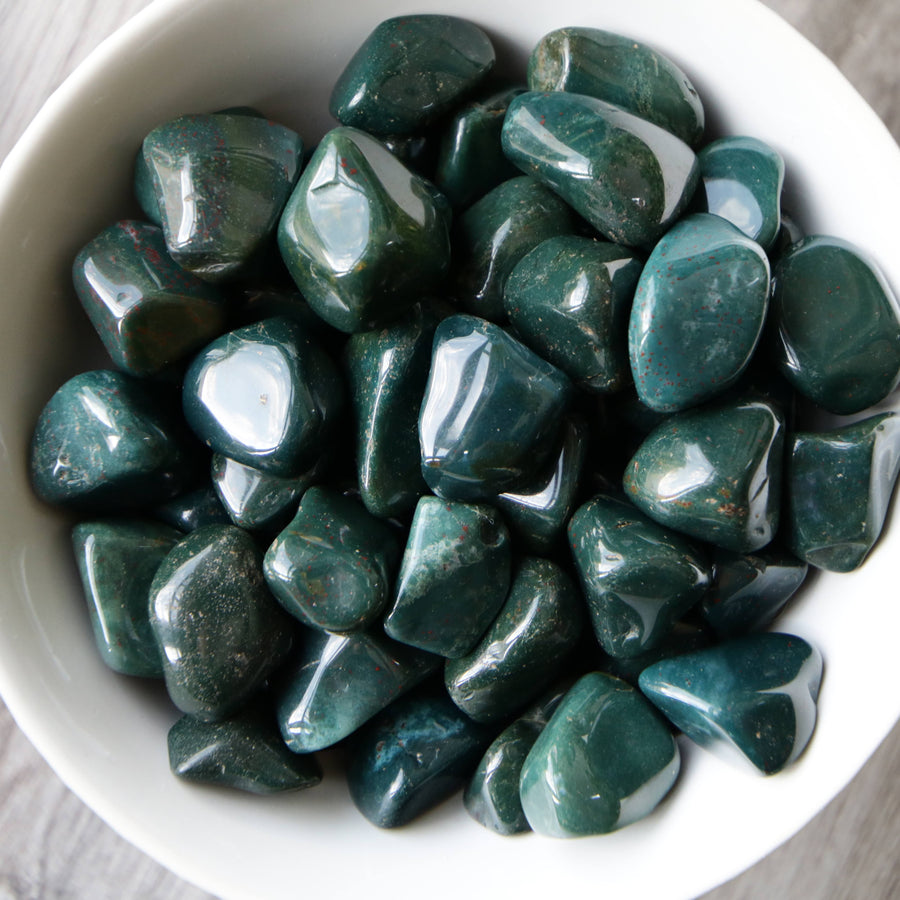 Green Jasper Tumbled Crystals from India