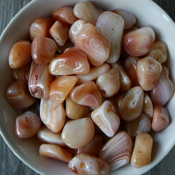 Apricot Carnelian Agate from South Africa