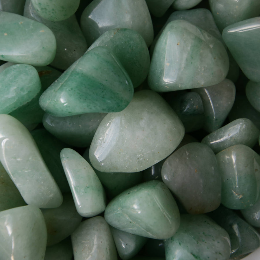 Green Aventurine Tumbled Crystals from South Africa