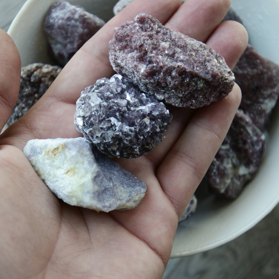 Lepidolite Natural Chunks from Brazil