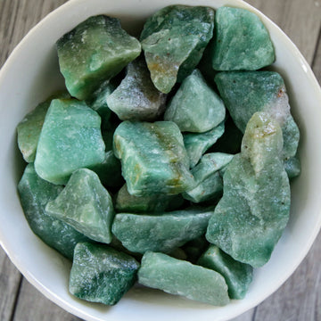 Green Aventurine Natural Chunks from Brazil